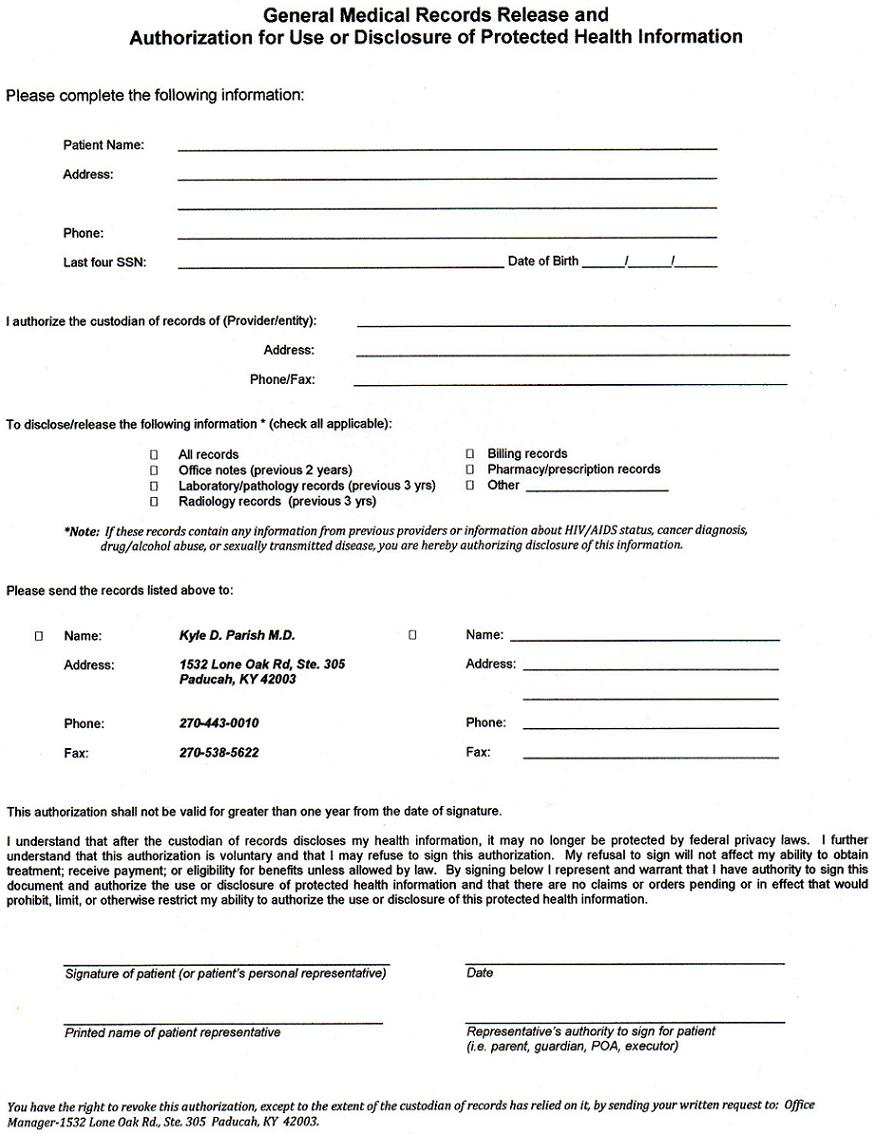 Superb Free Blank Medical Records Request Letter Form